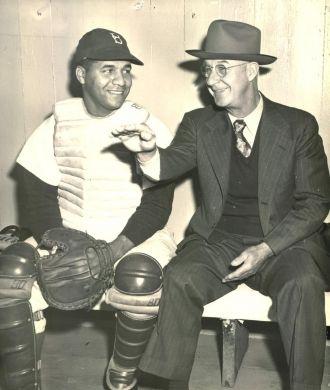 Roy Campanella and Burt Shotton - Brooklyn Dodgers