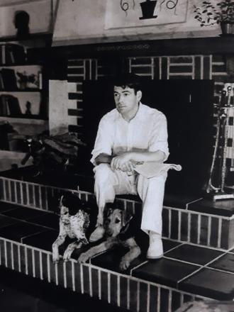 Paul Muni at home