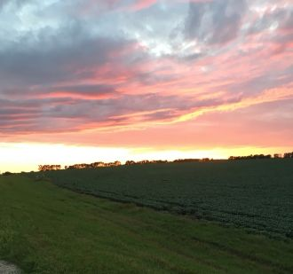 Sun going down in Minnesota