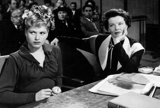 Judy Holliday and Katharine Hepburn