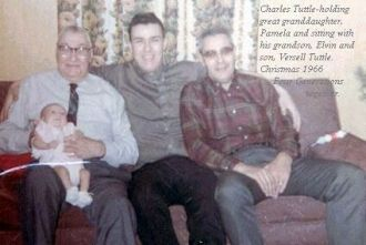 Four Generations of the Tuttle family, 1966