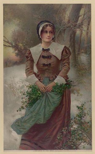 A fair Puritan / E. Percy Moran.