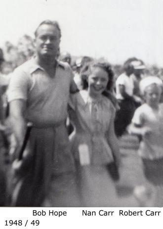 Bob Hope with Nan and Bob Carr