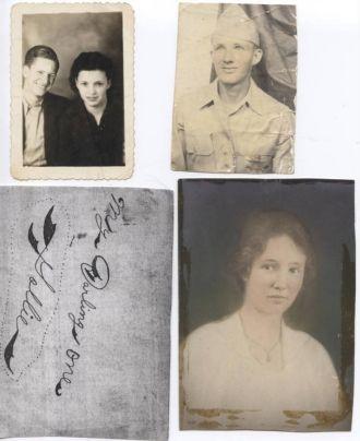 Wilbur Horace Norton & friend, Charles Samuel Norton WWII & Gollie Marie Sikes