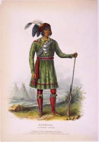 Asseola, a Seminole leader / drawn, printed, & coloured...