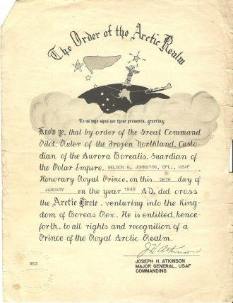 Weldon G. Johnson, Order of Arctic Realm