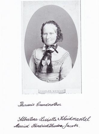 A photo of Albertine Lissete (Scheidemantel) Jacobs