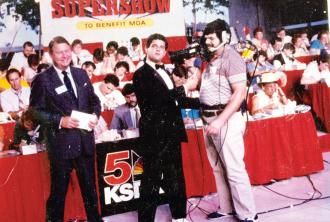 Bob Richards on the MDA Telethon on KSDK Channel 5 (1983)
