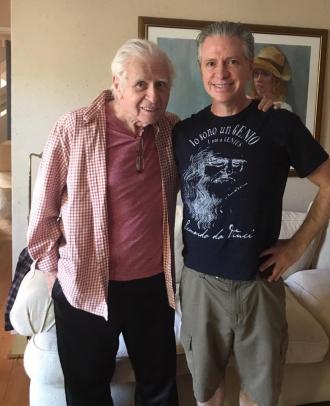Gerald Gardner with his son Lindsay Gardner.