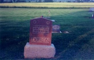 Rutherford T. and Recie Edith Doiron Tombstone