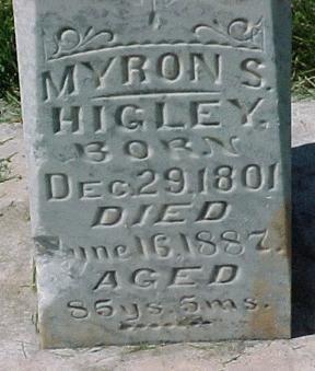 Myron Spencer Higley Headstone