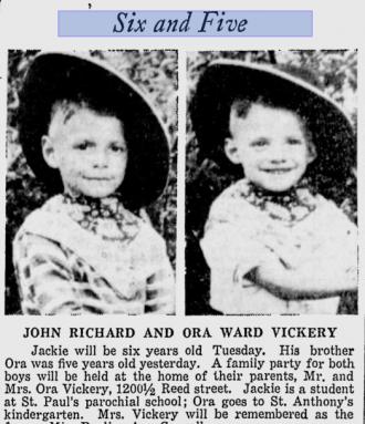 John & Ora Vickery, Delaware