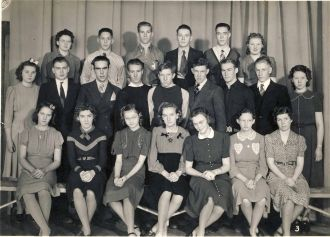 School group  picture found in antique store