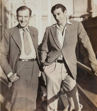Cecil Beaton and Gary Cooper in the 1930's