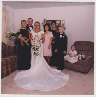 Jamie Bradley Richardson's wedding day, 1998