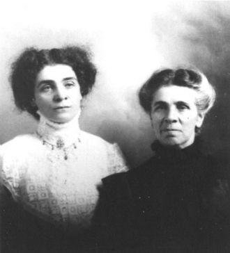 Angeline (Chartrand) & Rosabel Kroetsch, 1910's