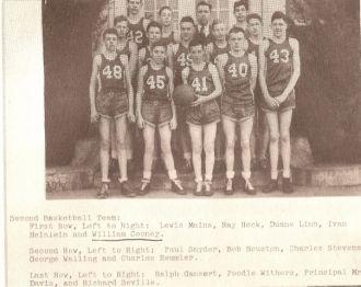Harrisburg IN High School- Basketball 1944