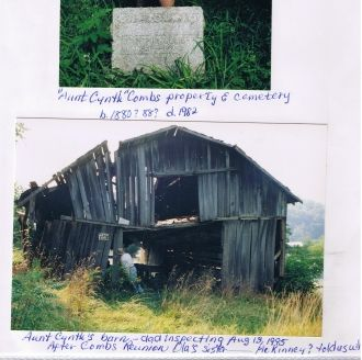 Cynthia Combs' property and cemetery