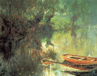 A Rowboat on a Pond.