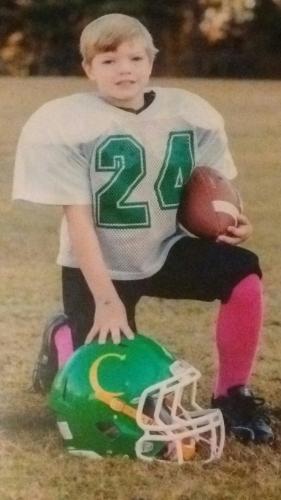 Darren Ray Mason playing football