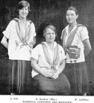 Wanda Griiffiths, Eleanor Rehdorf, Grace Iliff 1926