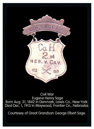 Eugene Henry Sage War Medal