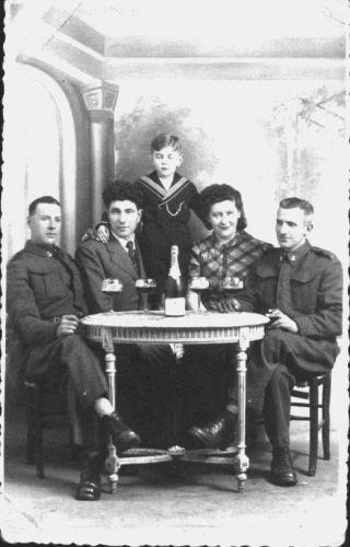 John James Latham (sitting left) Royal Engineers- Libercourt France 1939-40 (WWll) just before Dunkirk Evacuation May 1940