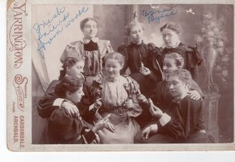 Anna Byers and her Irish friends.