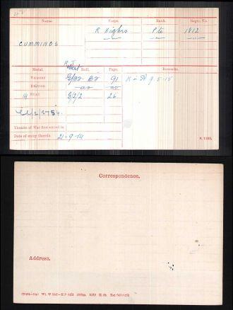 Robert James Cummings military record