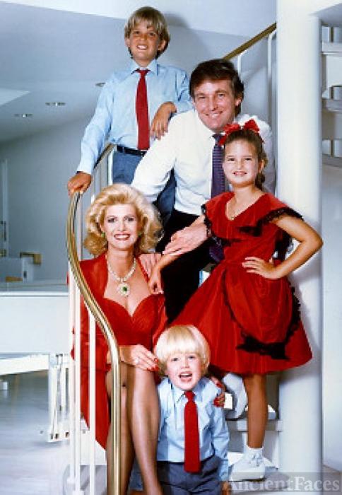 Donald and Ivana Trump Family