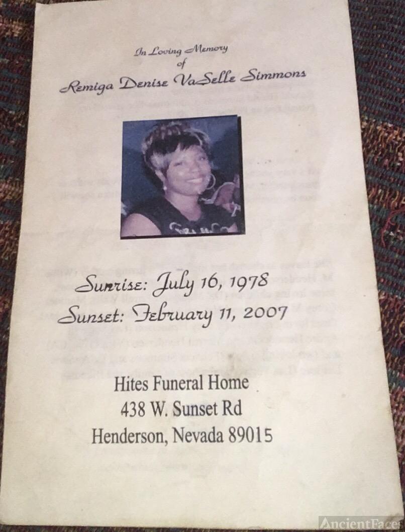 Remiga Denise Vaselle Simmons Obituary