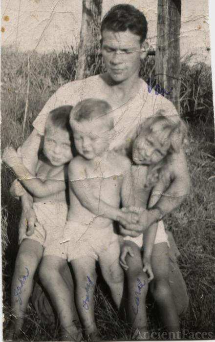 Van Pruitt & Layton children, 1950