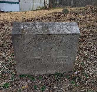 Grave of my grandfather Jasper Gray