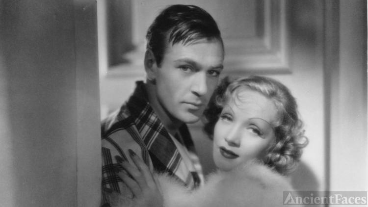 Gary Cooper and Marlene Dietrich