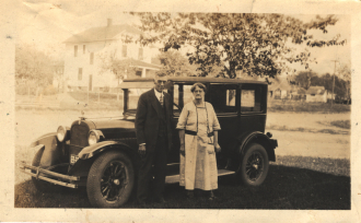 Someone's Grandparents and their car