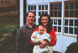 John and Frita Heckford and daughter