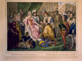 Christophe Colomb a la cour d'Isabelle II / Pairs, Vve....