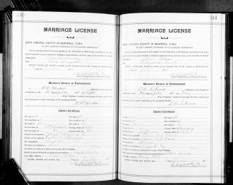 Dora (Brewster) & Charlie Bailey marriage record