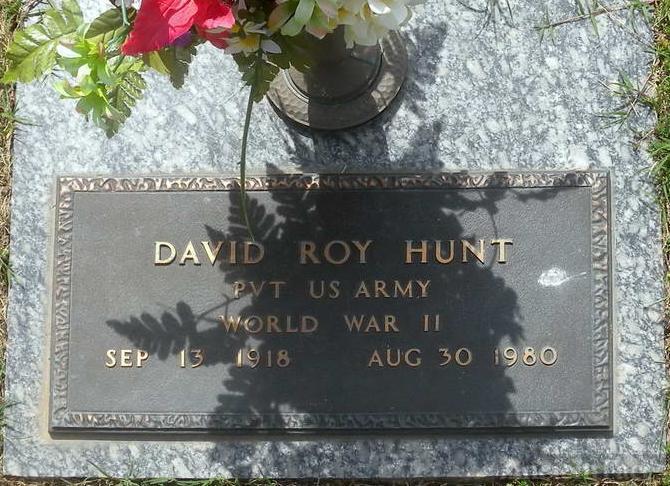 David Roy Hunt headstone