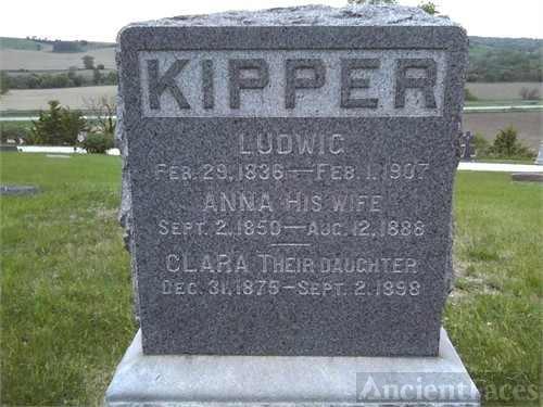Ludwig, Anna, & Clara Kipper gravesite