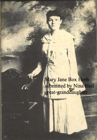 A photo of Mary Jane (Box) Herb
