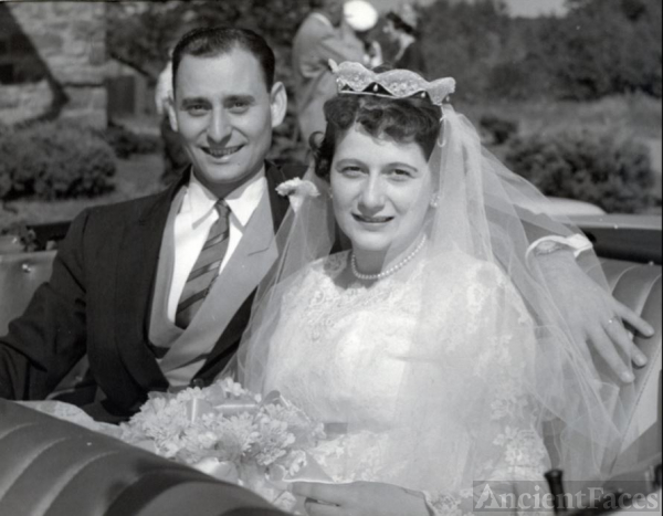 Ed & Donna on their wedding day