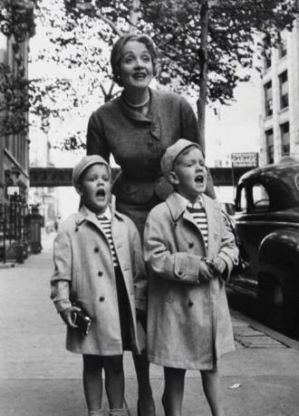 Marlene Dietrich, John and Peter Riva