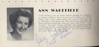 Ann Wakefield Autograph