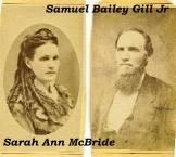 Sarah Ann McBride & Samuel Bailey Gill, Jr.
