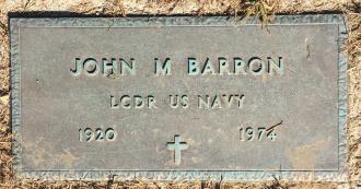 John Martin Barron-- gravestone
