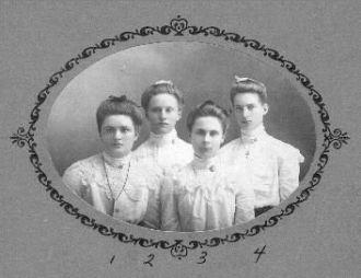 Katherine & Isabel Weber & Friends, 1904