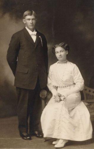Chas. (Charles) and Maude Wyrick, wedding?