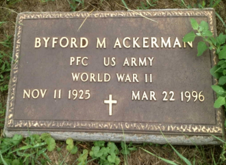 Byford M Ackerman Gravesite