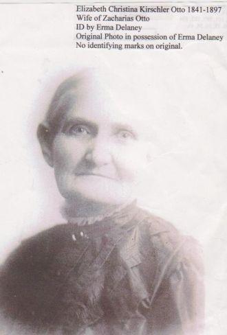 A photo of Elizabeth Christina (Kirschler) Otto
